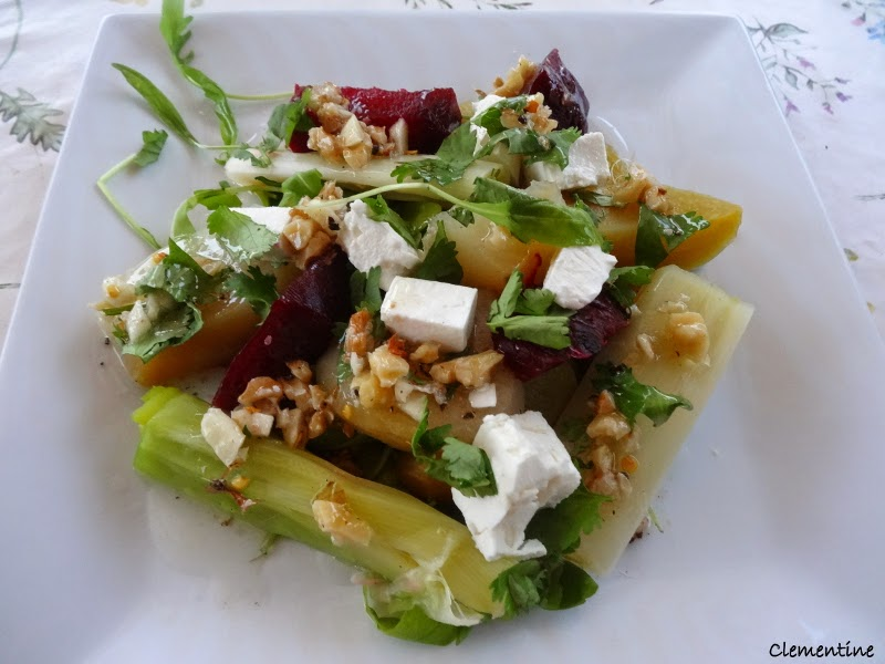 le blog de clementine salade de betteraves et poireaux d 39 ottolenghi. Black Bedroom Furniture Sets. Home Design Ideas
