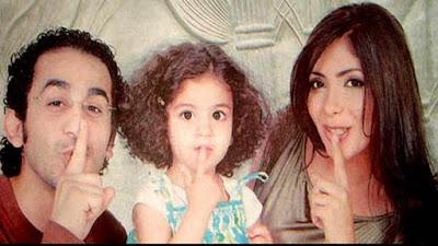منى زكى وزوجها أحمد حلمى وإبنتهما
