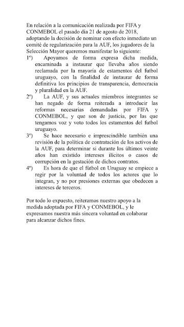 LA INTERVENCIÓN DE LA ASOCIACIÓN URUGUAYA DE FÚTBOL
