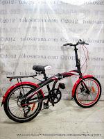 Sepeda Lipat Pacific PIP-20-2980HT 7 Speed 20 Inci