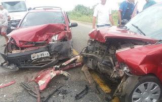 Acidente entre veículos deixa feridos entre Barra de Santa Rosa e Damião