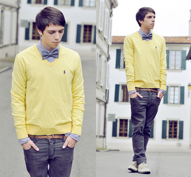 The Look Right: Bow Ties And Sweater