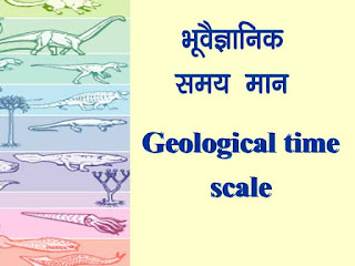 भूवैज्ञानिक समय-मान { Geological time scale with events }