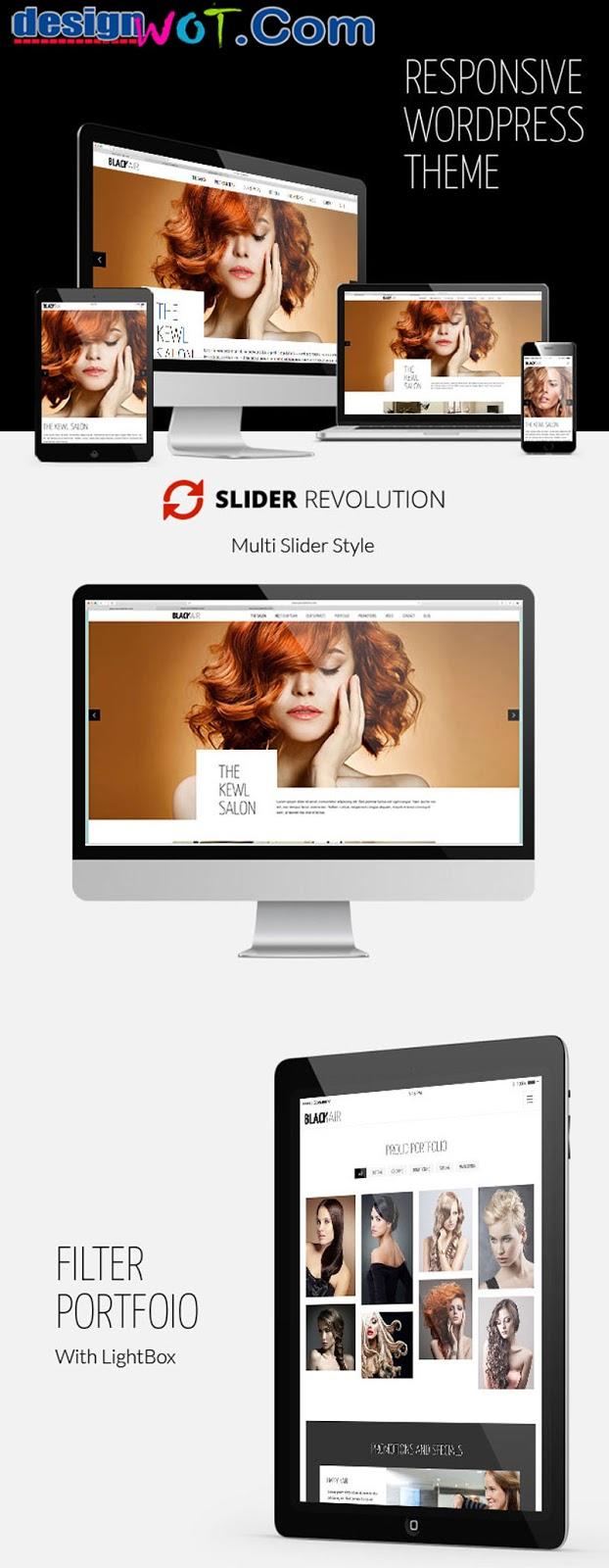 Blackair - One Page WordPress Theme for Hair & Beauty Salon
