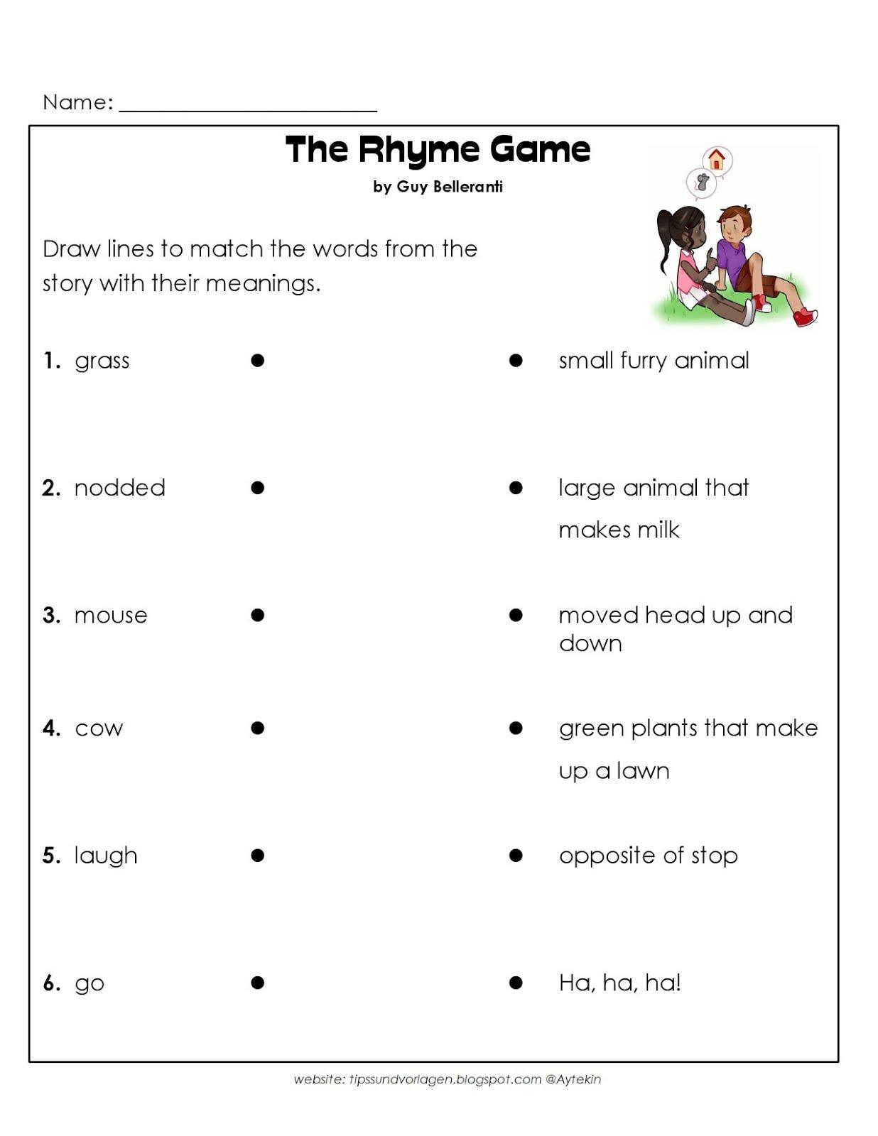 Free Printable 1st Grade English Worksheets Tipss Und Vorlagen