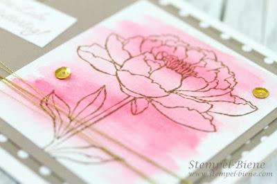 Muttertagskarte Stampinup; Stampinup Aquarellworkshop; Stampinup Stempelparty; Stempel-Biene; Match the Sketch
