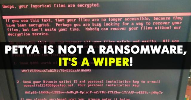 Ternyata Petya Bukan Hanya Ransomware, Namun Mesin Pemusnah