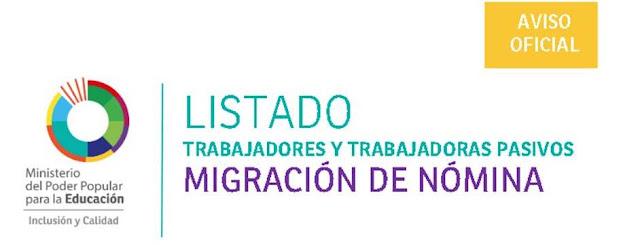 Listado Migración Nomina