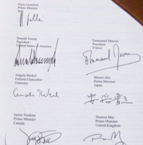 unnamed See This Viral Photo Of World Leaders' Signatures