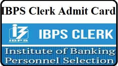 Download, IBPS, Clerk, Admit Card, Link