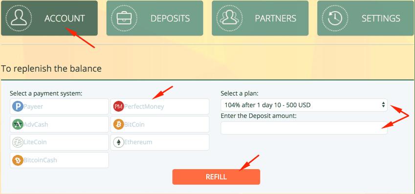 Регистрация в Robox Invest 3