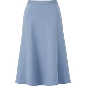 Blue ponte flare midi skirt from Uniqlo