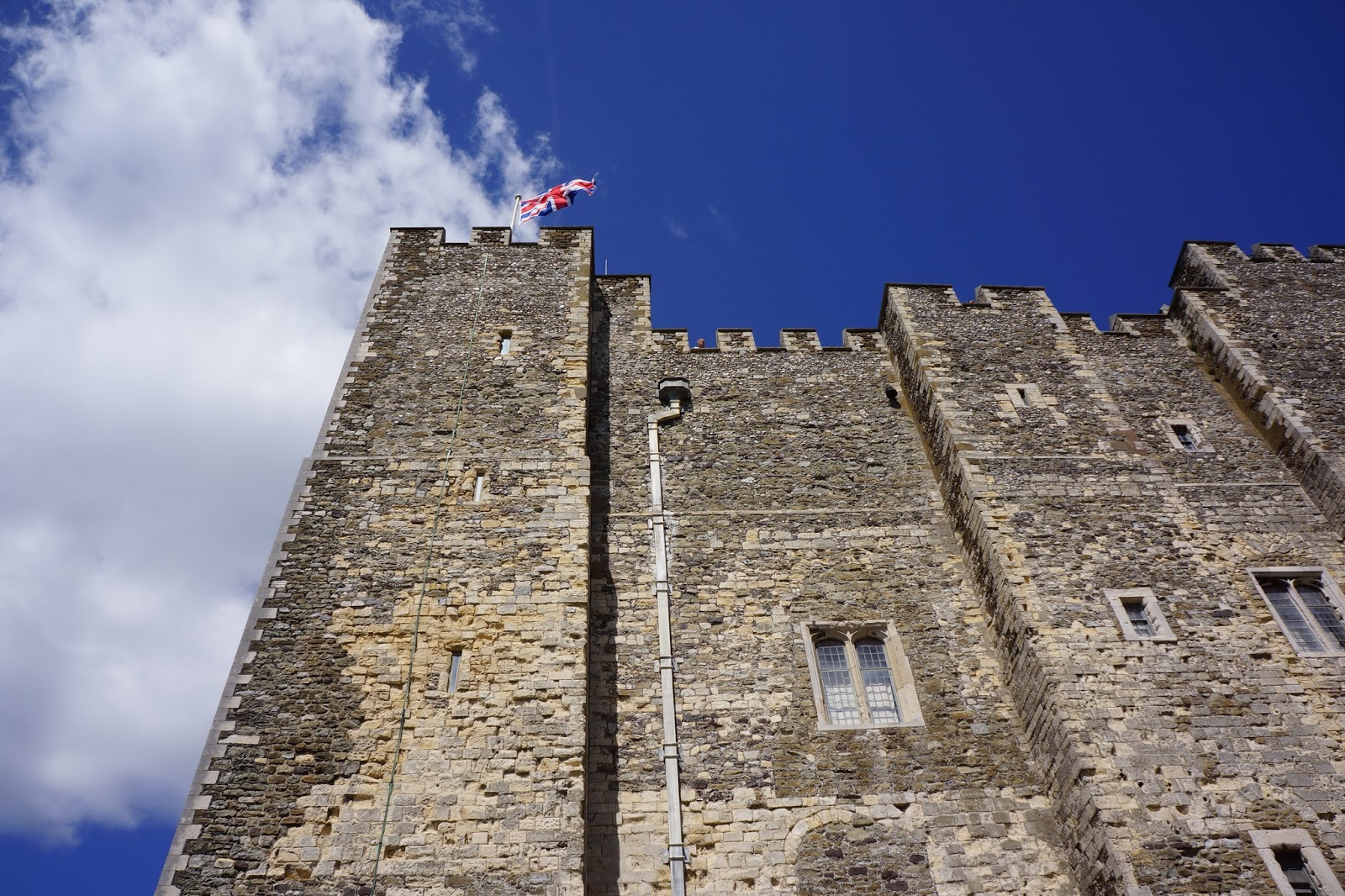 dover castle tower seen from below