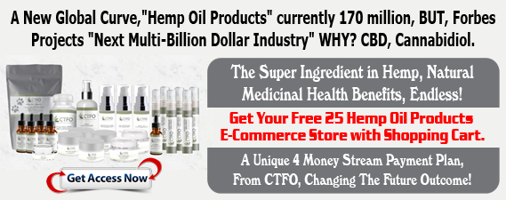 Free Hemp(NON THC) Oil E-Commerce Store 4 Money Streams
