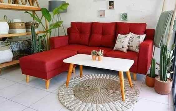 sofa minimalis ruangan rumah type 30