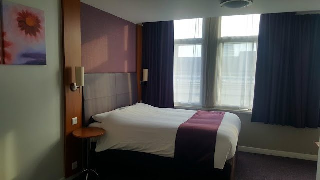 Greeted by a big, cosy bed - Premier Inn