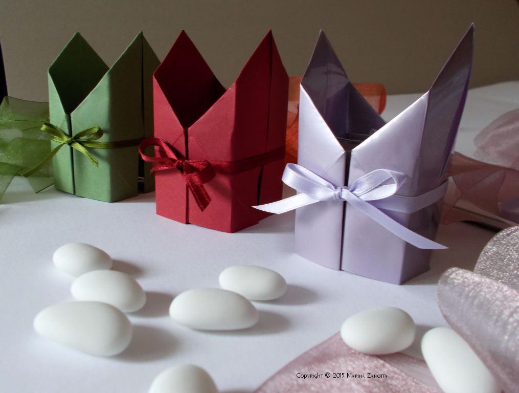 Popolare Bomboniere di carta (origami style) WW94