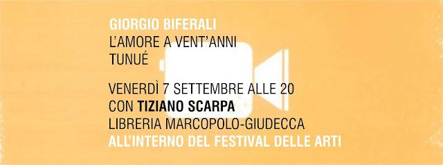 Giorgio Biferali con L'amore a vent'anni alla MarcoPolo-Giudecca