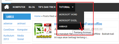 Cara simple membuat menu Dropdown