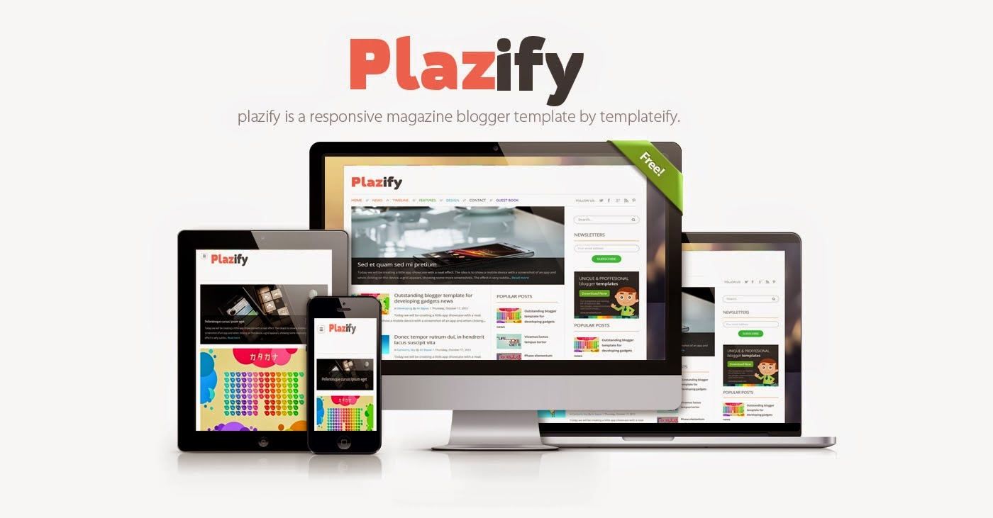 PLAZIFY RESPONSIVE BLOGGER TEMPLATE