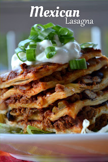 Cheap Recipes Slow Cooker Mexican Lasagna from Fluster Buster