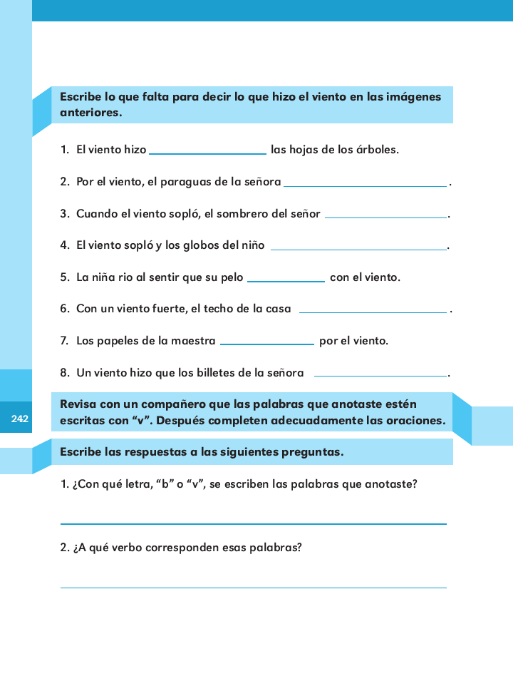 ¿vientos?¡a volar! español 2do bloque 5/2014-2015
