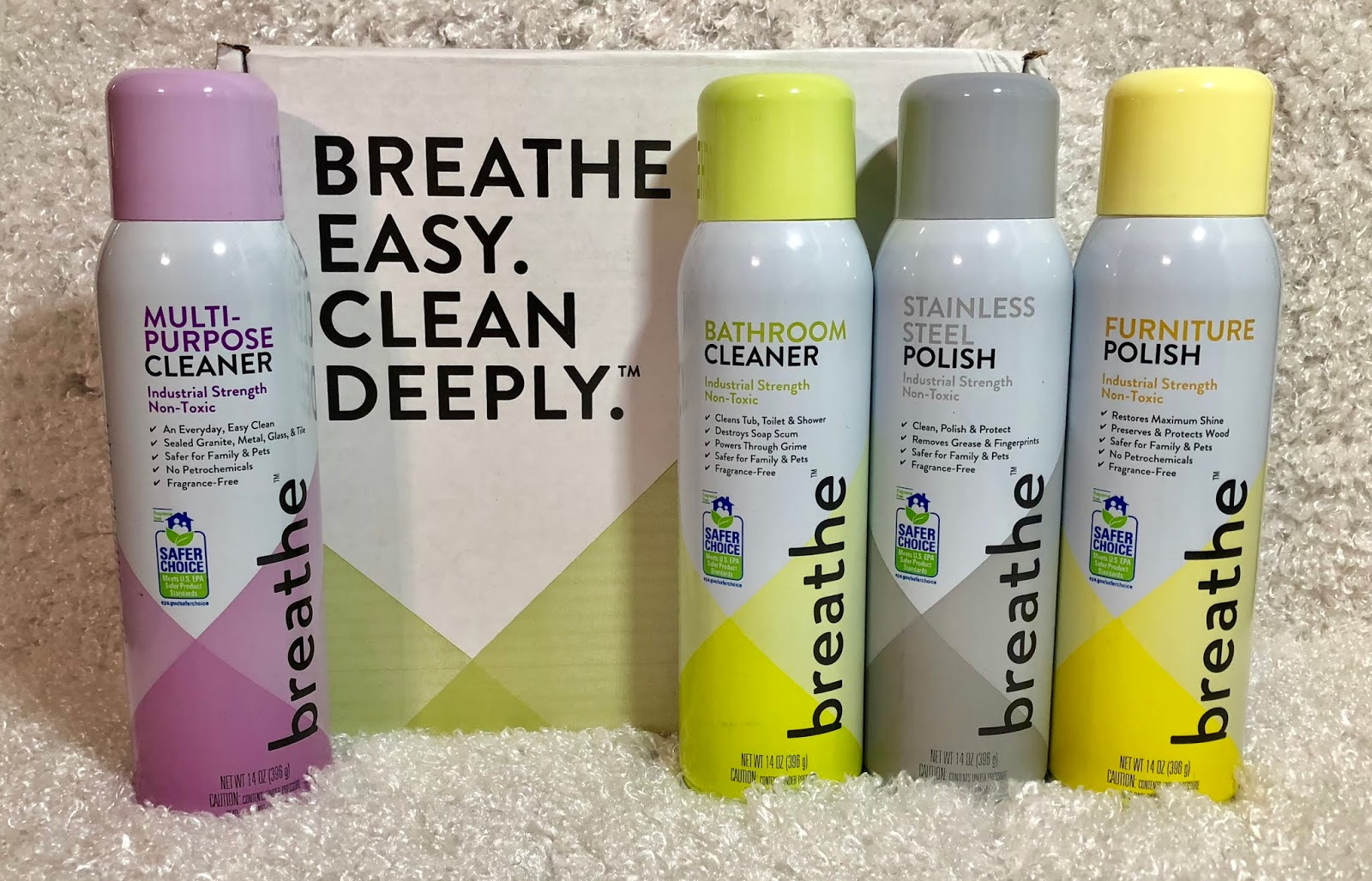 I Recently Received A Really Nice Array Of Breathe™ Cleaning Products And I  Have To Say I Am Really Excited About Them. They Are The First Line Of  Aerosol ...
