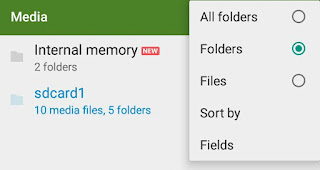 Change files and folder view