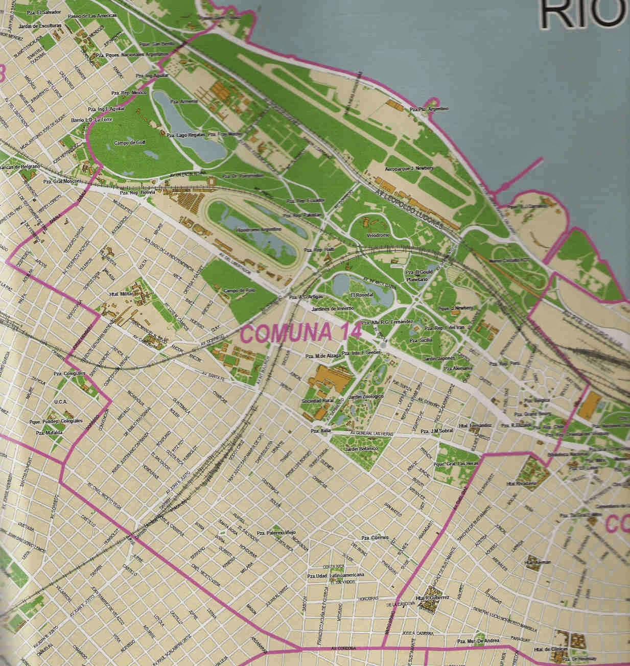 mapa comuna 14