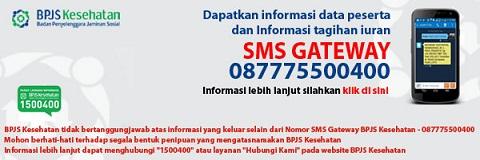 SMS Gateway BPJS Kesehatan, Inilah Cara Mengecek Informasi Data Peserta dan Tagihan Iuran