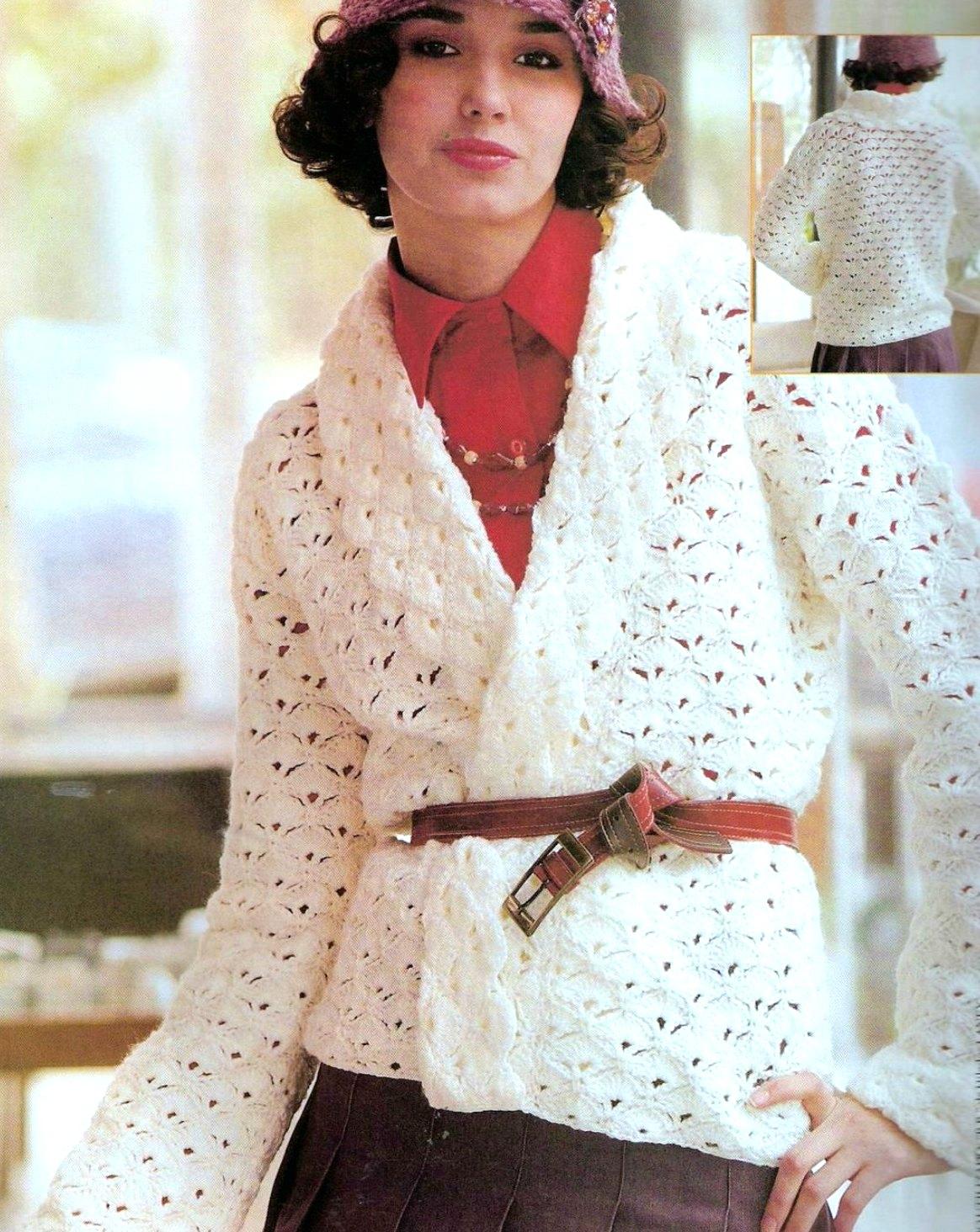 Bonito Crochet Patrón Chaqueta De Punto Componente - Ideas de ...