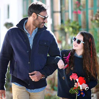 Abigail Eames With Ajay Devgan
