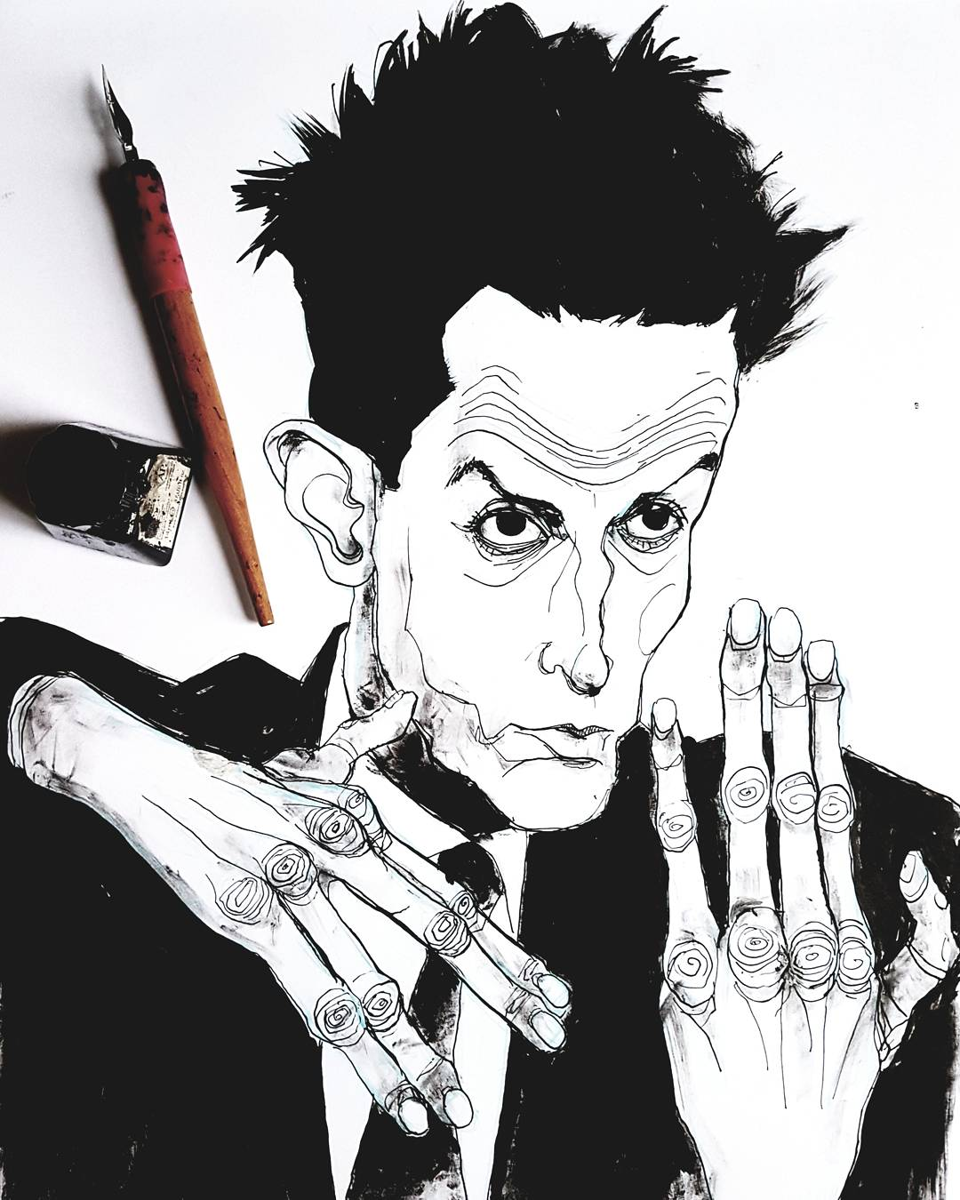 Egon Schiele Ink Illustration