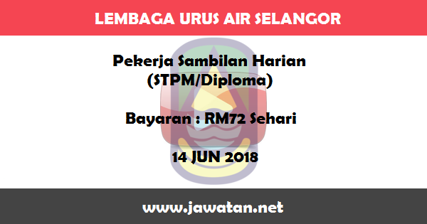 Job in Lembaga Urus Air Selangor (LUAS) (14 Jun 2018)