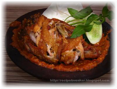 Resep Sambal Lalapan Ayam Penyet Rumahan