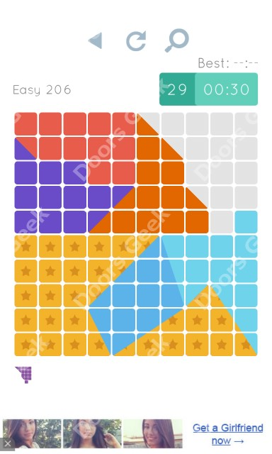 Cheats, Walkthrough for Blocks and Shapes Level 206