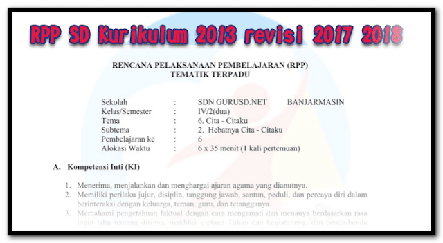 Silabus PJOK SD semester 2 Tahun Pelajaran 2018-2019