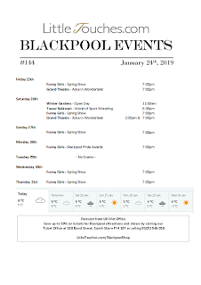 B2B Blackpool Hotelier Free Resource - Blackpool Shows and Events January 25 to January 31 - PDF What's On Guide Listings Print-off #144 Thursday January 24
