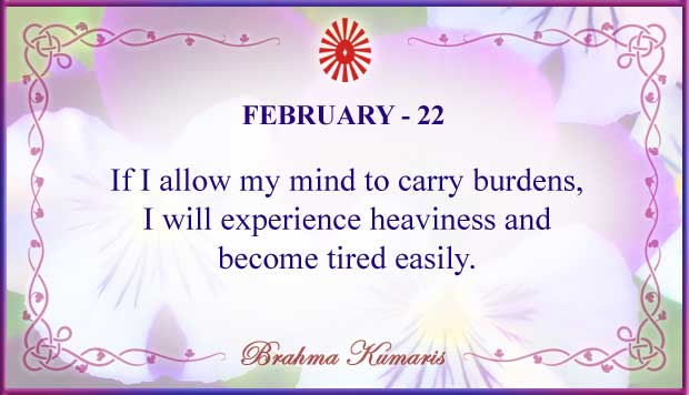 Thought For The Day February 22