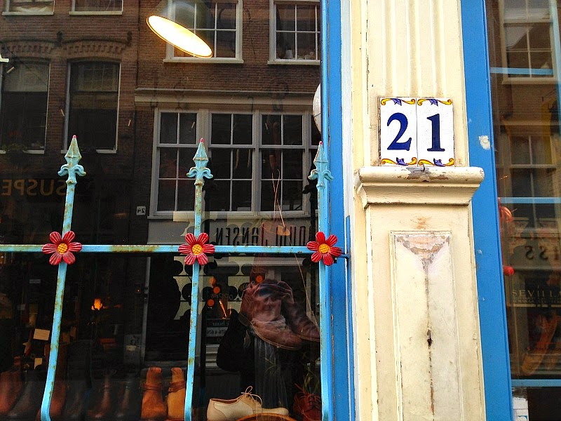 Boutique facades in Amsterdam nine streets
