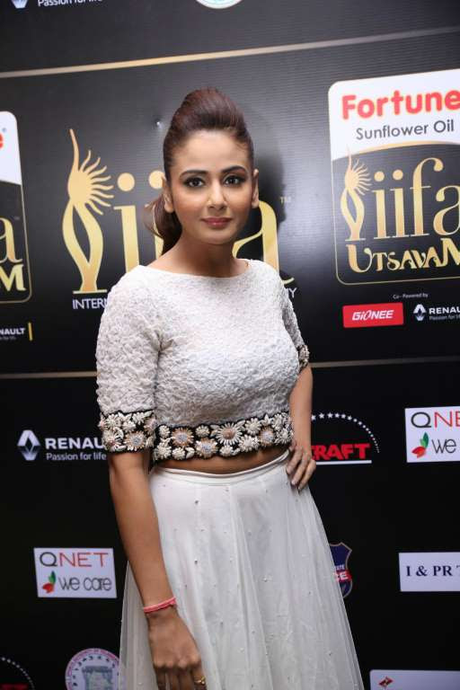 Kannada actress Parul Yadav was among the celebrities at IIFA Utsavam  press meet