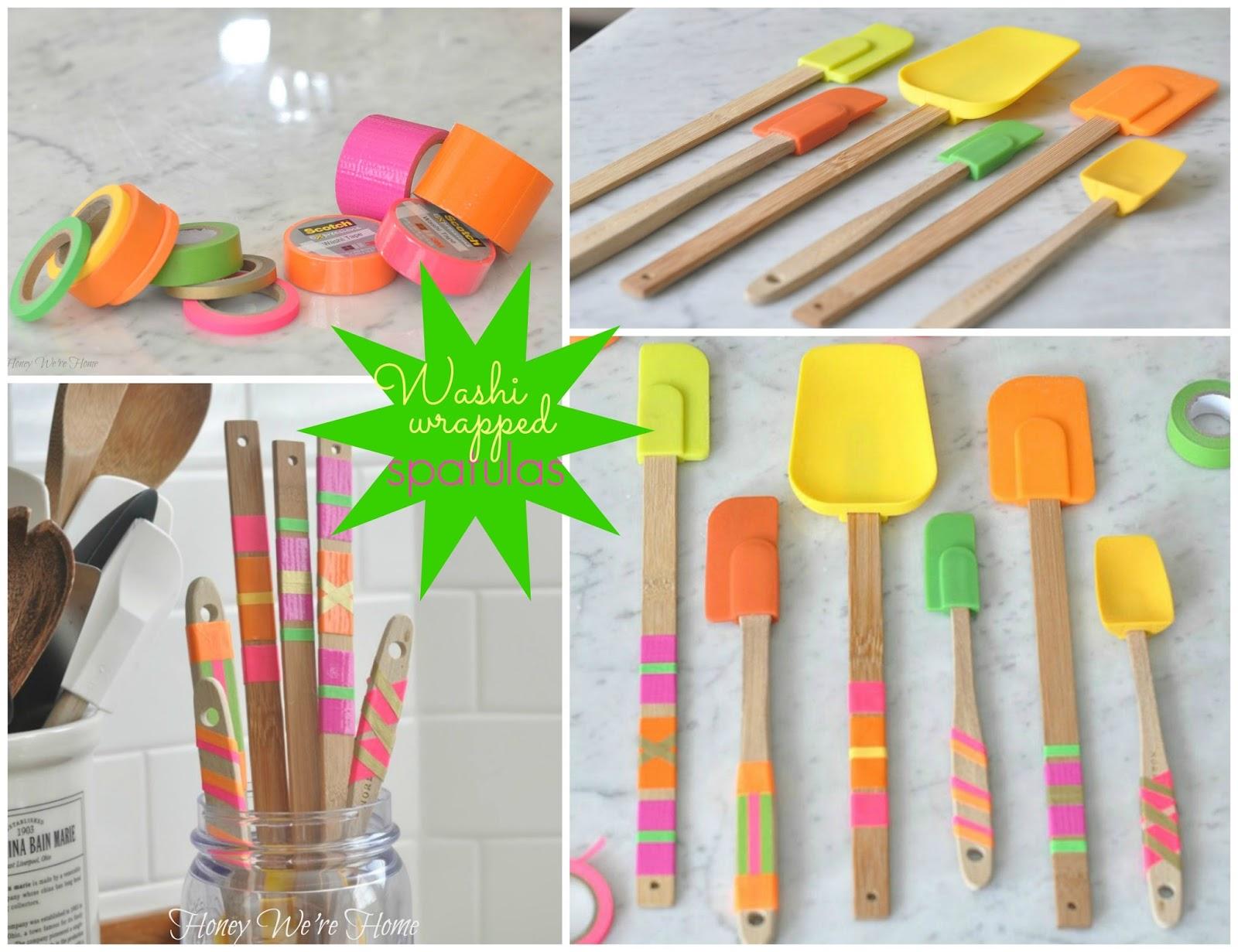 washi tape kitchen spatulas honey we 39 re home. Black Bedroom Furniture Sets. Home Design Ideas