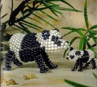 Панда из бисера. Схема
