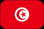 Rounded flag of Tunisia