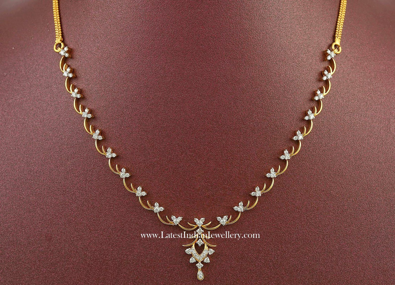 Simple Indian Diamond Necklace Designs