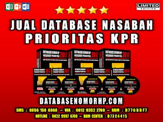 Jual Database Nasabah Prioritas KPR