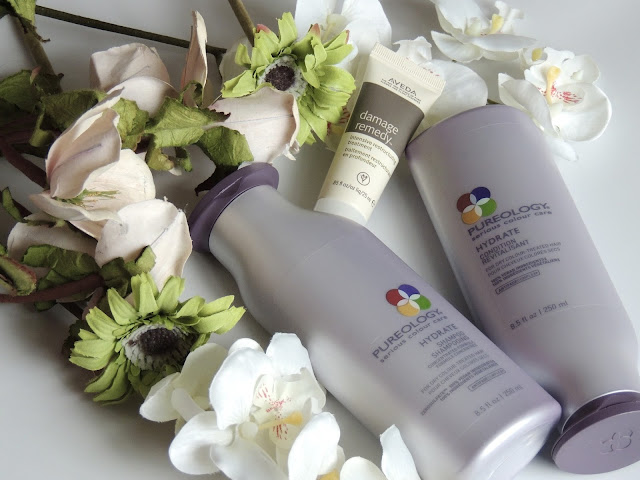 Vegan cruelty free haircare. Flowers. Pureology and Aveda.