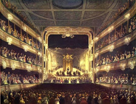 Theatre Royal, Covent Garden, from The Microcosm of London Vol 1 (1808)
