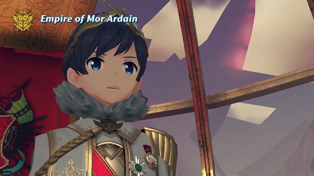 Empire of Mor Ardain royalty blue hair anime eyes Xenoblade Chronicles 2