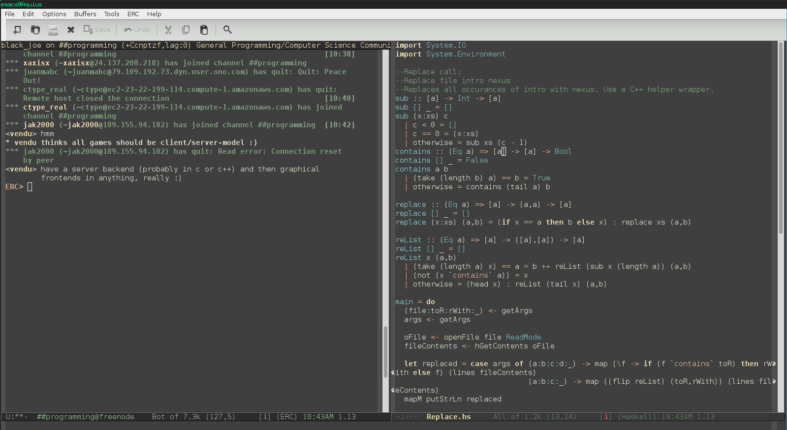Profectium: Comparison of IRC clients